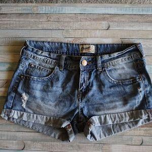 Distressed Bershka Denim Shorts size 6
